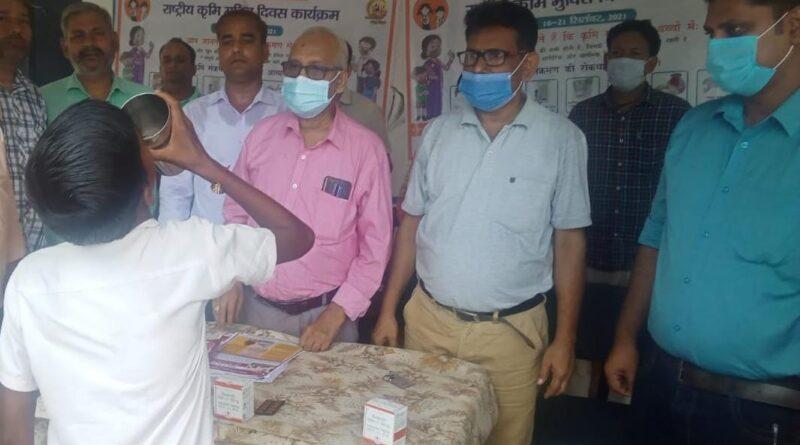 जिले में राष्ट्रीय कृमि मुक्ति कार्यक्रम का हुआ शुभारंभ, सीएस ने किया उदघाटन